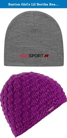 Burton Girl's Lil Bertha Beanie Grapeseed 1SZ & HDO Knit Cap Bundle. After driving innovation and progress for 40 years, Burton knows it's all about the journey. The product, community and the culture speaks for itself. The rest? Well, you just have to drop in and feel the difference.