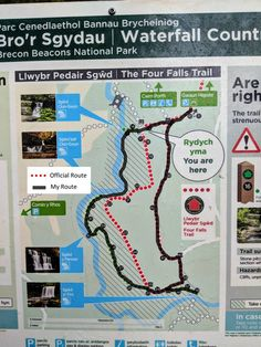 The Four Waterfalls Walk, Brecon – My Alternative Route with Map + Photos My Route, Waterfall Trail, Snowdonia National Park, Hiking Routes, Visit Wales, Brecon Beacons, Water Collection, Barcelona Travel, Best Hikes