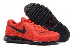 Nike Air Max 2014 Mens All Red Black Shoes