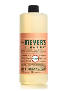 Mrs. Meyer's Clean Day Geranium...i love this stuff!!  The fabric softener will spoil you!