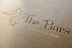 Restyling del logo per The Bars - bartending tools. Azienda leader nel settore di attrezzatura per bartender -  Made in Italy