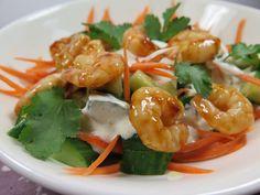 Salade légère aux crevettes marinées                                                                                                                                                                                 Plus