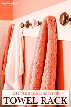 DIY Door Knob Towel Rack