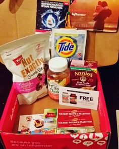 Check out the #goodies in my #comfortvoxbox.  I'm trying this all for #free  from @influenster. #Ragu4You #choosegood #FisherNutExactly #fiberchallenge #tideusrfreeattarget #thanks