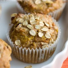 Carrot Almond Spice Protein Muffins
