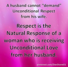 Chauvinism is one of the Biggest Killers of Respect and Honor in a marriage...  When she feels Unsafe or Unloved, a wife will naturally build an emotional wall to protect her heart.