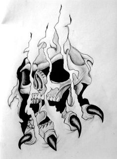 Nice Pictures of Skull Tattoos and Pirates Tattoos. Check out the Best Design of Skull Tattoo for Men Skull Tattoo Design, Tattoo Design Drawings, Skull Design, Tattoo Designs, 4 Tattoo, Tattoo Motive, Tattoo Blog, Book Tattoo, Evil Skull Tattoo