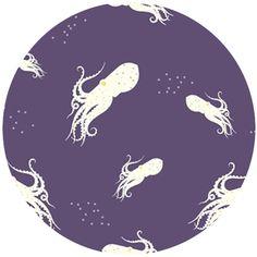 COMING SOON, Charley Harper for Birch Organic Fabrics, Maritime, KNIT, Octo School Purple