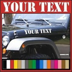 #6 Country Beauty  Jeep Wrangler Hood Decals by BlueLineDzigns on Etsy