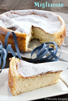 Migliaccio - a traditional #semolina and #ricotta #cake made in Naples for #Carnevale.