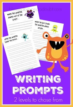 Grab these free Monster Writing Prompts to spark the love of creative writing in your students.