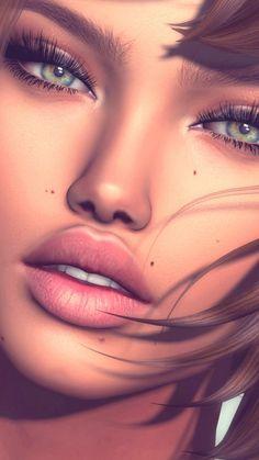 Imagem de beauty girl, and illustration Digital Art Girl, Digital Portrait, Portrait Art, Girl Cartoon, Cartoon Art, Photographie Indie, Girly Drawings, Illustration Girl, Fantasy Girl