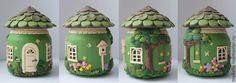 "Баночка-шкатулка ""Лесной домик"" / Jar-box ""Forest House"" by Мария Соколова (toybelle)."