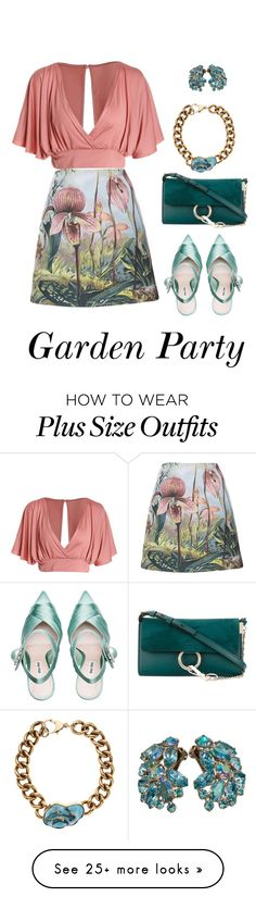 """""""Blossoms That You Wear"""" by shamrockclover on Polyvore featuring Chloé, ADAM, Miu Miu, Weiss and Balmain"""