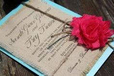 burlap wedding invites - Google Search