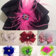 Fancy Feather Bow Fascinators /Headband Fancy Girl Custom Designs