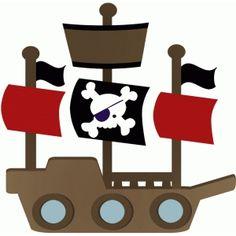 Silhouette Design Store: pirate ship