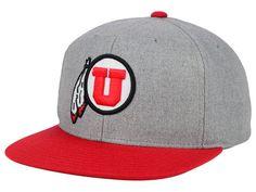 Utah Utes NCAA Stacked Box Snapback Cap Hats