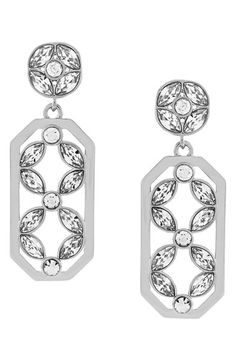 Louise et Cie Crystal Cluster Drop Earrings available at #Nordstrom