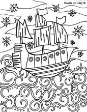 Pirate Coloring Pages - doodling