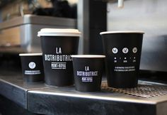 La Distributrice (Coffee Paper Cups Packaging) by Gabriel Lefebvre and Rachel Lecompte