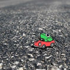 Frog in a Car enamel pins are HERE!!! On at TheYetee.com! #enamelpin #pin #earthbound