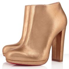 Christian Louboutin  Rock And Gold 120mm Ankle Boots Gold hunting for limited offer,no tax and free shipping.#shoes #womenstyle #heels #womenheels #womenshoes  #fashionheels #redheels #louboutin #louboutinheels #christanlouboutinshoes #louboutinworld