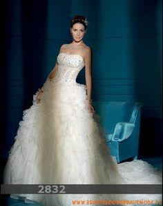 2013 Wunderschöne luxuriöse Brautmode aus Organza Brautkleid mit langer Schleppe