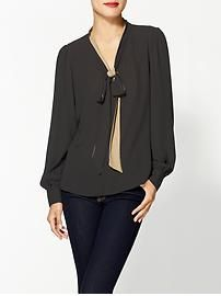 Tinley Road Contrast Bow Blouse