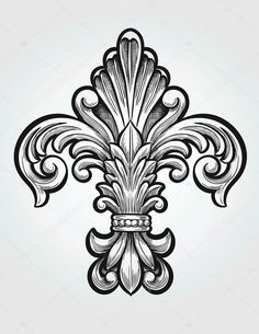 Planning to get a fleur de lis tattoo to commemorate the trip Maybe I can talk Bee into one ;) is part of Filigree tattoo - Leather Carving, Wood Carving, Filigrana Tattoo, Tattoo Drawings, Art Drawings, Engraving Art, Bild Tattoos, Mom Tattoos, Carving Designs