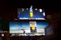 Billboard ad in NYC uses the actual Moon as a slice of lime.