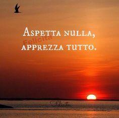 Aspetta nulla, apprezza tutto! ~ Expect nothing, appreciate everything!