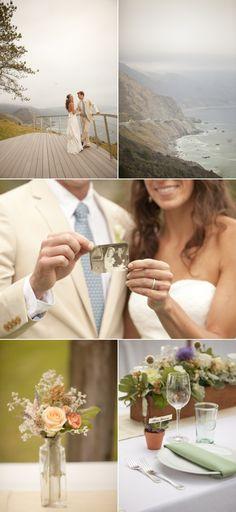 Big Sur Wedding at Point 16 by Glow Event Design, Bride's Dress: Birnbaum & Bullock