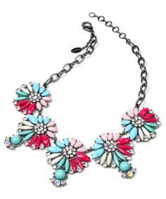 We can always rely on Amrita Singh for a pop of colour Pink Necklace,  Crystal fdbdf144cc