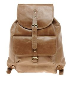 Leather Backpack - Perfect for college