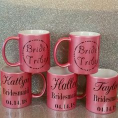 These are super cute mugs for your bridal party!!