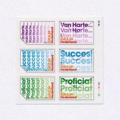 Congratulations (half of full set shown). Netherlands, 2001. Design…
