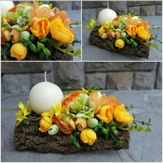 Spring Home Decor, Spring Crafts, Flower Arrangements Simple, Christmas Images, Summer Wreath, Flower Decorations, Flower Designs, Flower Art, Diy And Crafts