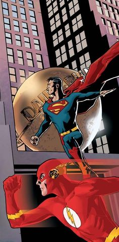 Superman and The Flash by Ryan Sook