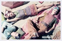 missoni goes retro in spring 2009 advertisement