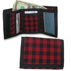 Amplify Trifold Black and White Checkerboard Wallet