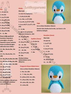 Amigurumi Little Bear Free Crochet Pattern - DiyForYou Crochet Animal Patterns, Crochet Doll Pattern, Stuffed Animal Patterns, Crochet Patterns Amigurumi, Amigurumi Doll, Crochet Animals, Crochet Dolls, Afghan Crochet, Crochet Penguin