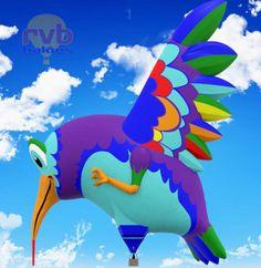 The Albuquerque International Balloon Fiesta - Hummingbird, posted via balloonfiesta.com