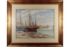 HOME DECOR – COASTAL STYLE – Boats at Port, 1920 on OneKingsLane.com