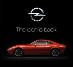 vintage car, sport car, red car, rouge, icon, classic, coupé, Opel, GT, retro