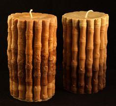 Bamboo pillar candle