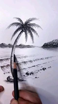 3d Art Drawing, Art Drawings Sketches Simple, Art Drawings Beautiful, Pencil Art Drawings, Easy Drawings, 3d Pencil Sketches, Scenery Paintings, Diy Canvas Art, Art Tutorials