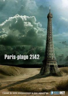 Affiche : Paris plage (2008)  Campagne de sensibilisation à l'environnement.  http://www.quadrupleclic.fr/blog/index.php?2009/01/15/18-jean-baptiste-delanfranchi
