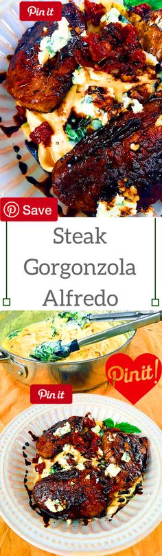 Steak Gorgonzola Alfredo 30 mins to make serves 4 I love alfredo but it is so incredibly rich and heavy that it is very difficult to eat a lot of it (although there are times that it seems beefs Ingredients Produce 2 cups Spinach cup Sundried tomatoes Condiments 1 tbsp Balsamic vinegar Pasta & Grains 1 lb Fettuccine Baking & Spices 4 tbsp Balsamic glaze tsp Nutmeg 2 Pepper 2 Salt Dairy lb Butter unsalted 6 oz Gorgonzola crumble 2 cups Heavy cream 1 cup Parmesan chees