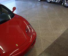 Epoxy Garage floor coating installed in a residential garage. #EpoxyFlooring #DecorativeConcrete